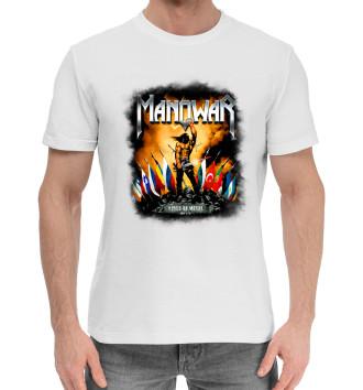 Мужская Хлопковая футболка Manowar