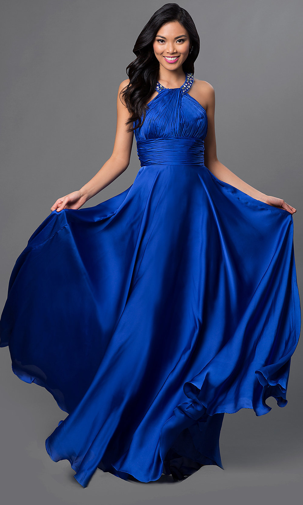High Neck Long Halter Dress Halter Gowns  PromGirl