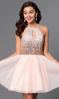 Homecoming Dresses Halter - Eligent Prom Dresses