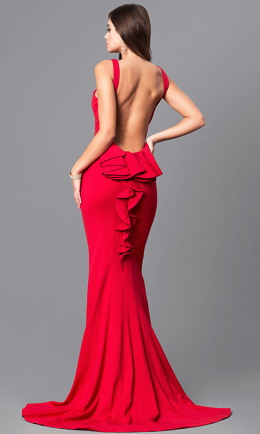 Mermaid OpenBack Prom Dress with Bustle  PromGirl