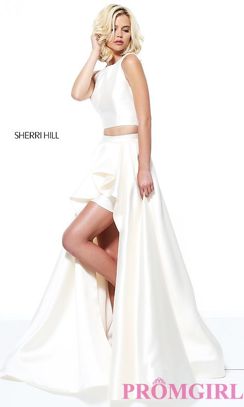 Sherri Hill TwoPiece HighLow Prom Dress  PromGirl