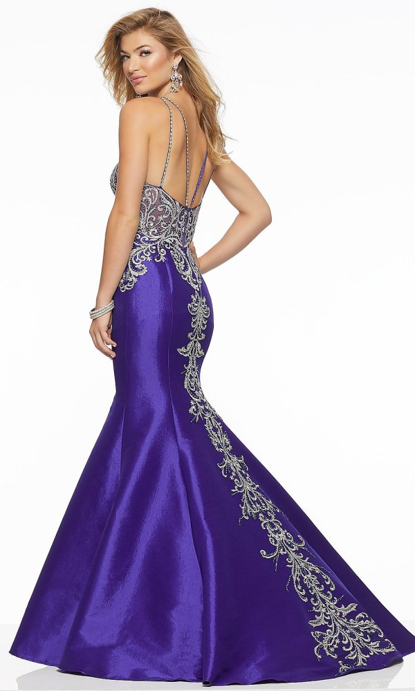 High-neck Long Mermaid Mori Lee Prom Dress