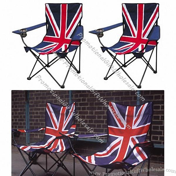 fishing chair no arms wedding covers without sashes custom union jack flag folding #1079324321