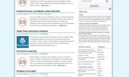 Simple Theme WordPress versiunea a doua