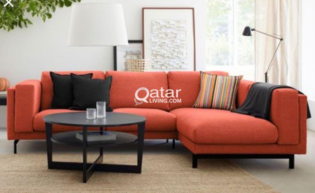 ikea nockeby sofa with chaise lounge