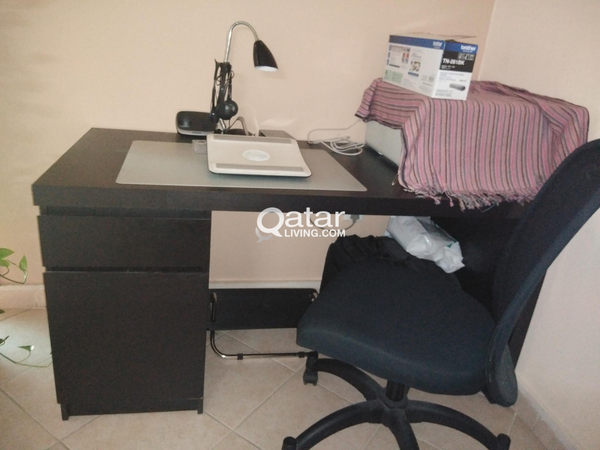 Ikea Office Desk And Chair Qatar Living