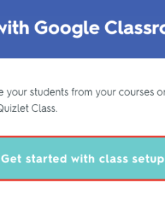 If you haven   already linked your quizlet account to google apps for edu ll be prompted do so select get started with class setup also using classroom classes rh