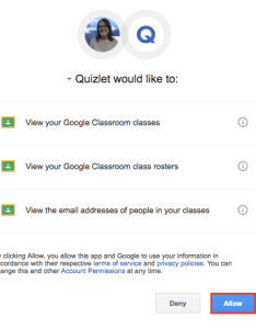 Adding courses and inviting students also using google classroom with quizlet classes rh