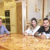 Programa do Gugu quarta-feira 25/05/2016 – Na Ucrânia, Gugu entrevista o jogador de futebol Dentinho e sua mulher Dani Souza