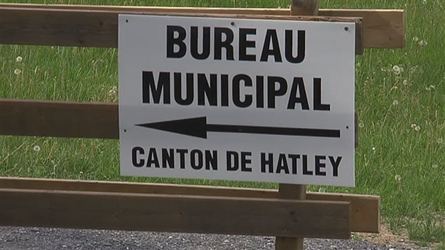 The municipal office of the Canton de Hatley