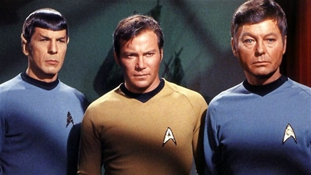 Leonard Nimoy, William Shatner et DeForest Kelley dans <i>Star Trek</i>