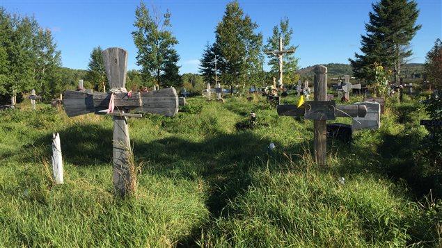 Le cimetière de Wemotaci