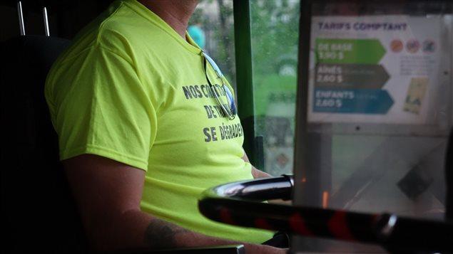 Les chauffeurs de la STO sont sans contrat de travail depuis près de deux ans.