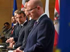Emmanuel Macron, photo: ČTK et Bohuslav Sobotka, photo: ČTK