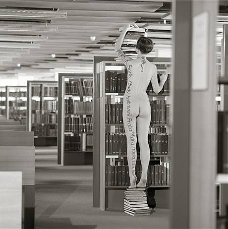 The library can be sexy too say naked students  Radio Prague
