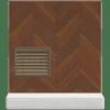Brown herringbone wall Animal Crossing New Horizons
