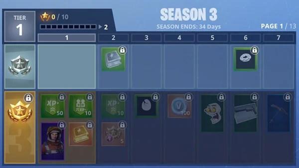 Fortnite Battle Royal Season 3 Rewards  Fornite Battle Pass Rewards