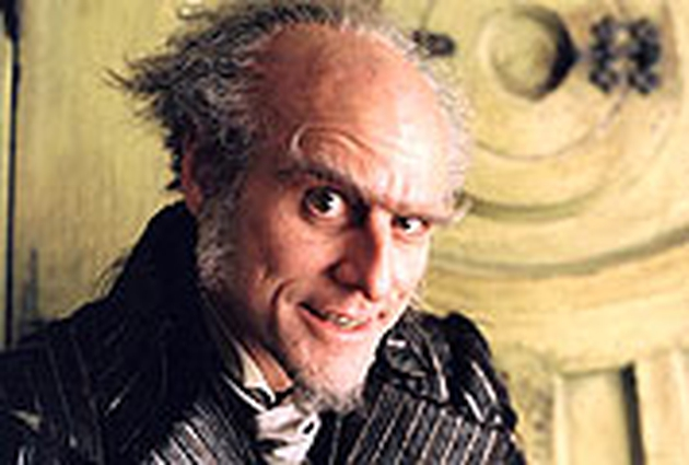 Jim Carrey in the movie version of Lemony Snicket
