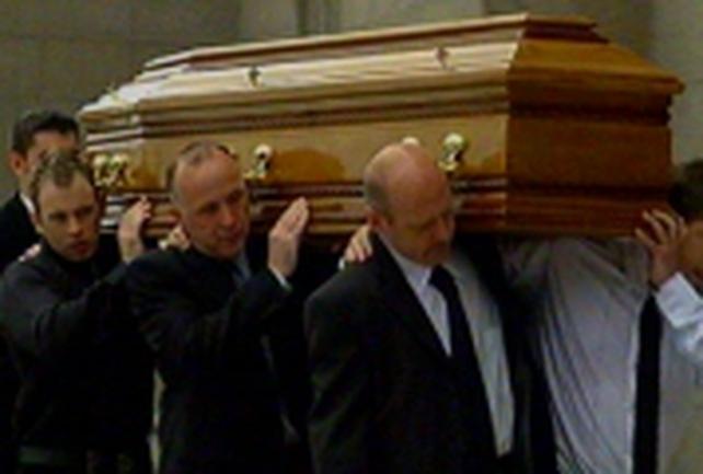 Armagh - Gareth O'Connor funeral