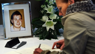 Omagh - Book of condolence opened for murdered policeman