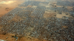 Kenya - An aerial view of the Dagahaley refugee camp