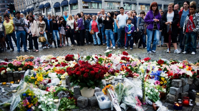 Norway mourns - Shocked people gather in Oslo
