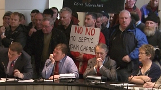 A protest over septic tanks took place at Galway County Council