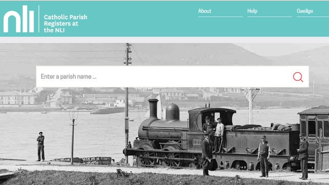 The records cover the entire island of Ireland and can be accessed free of charge online from 1pm today