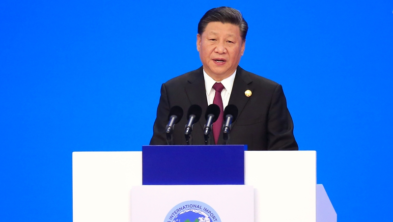 Xi Jinping was speaking at the China International Import Expo