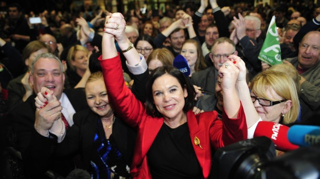 Image - Mary Lou McDonald pictured during the 2016 General Election