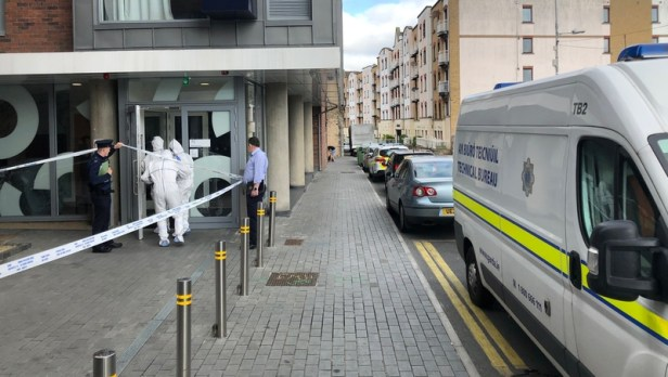 Scene was sealed off for a forensic examination