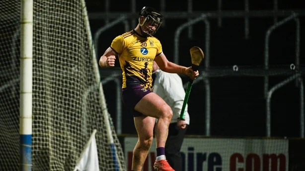 Conor McDonald of Wexford celebrates after scoring a late goal during the Walsh Cup Final   Conor McDonald 'buzzing' for 2020 with Davy Fitzgerald 0013700b 614