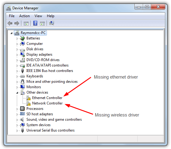 4 Ways to Detect and Install Network Drivers Offline • Raymond.CC