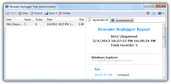 Keylogger free download
