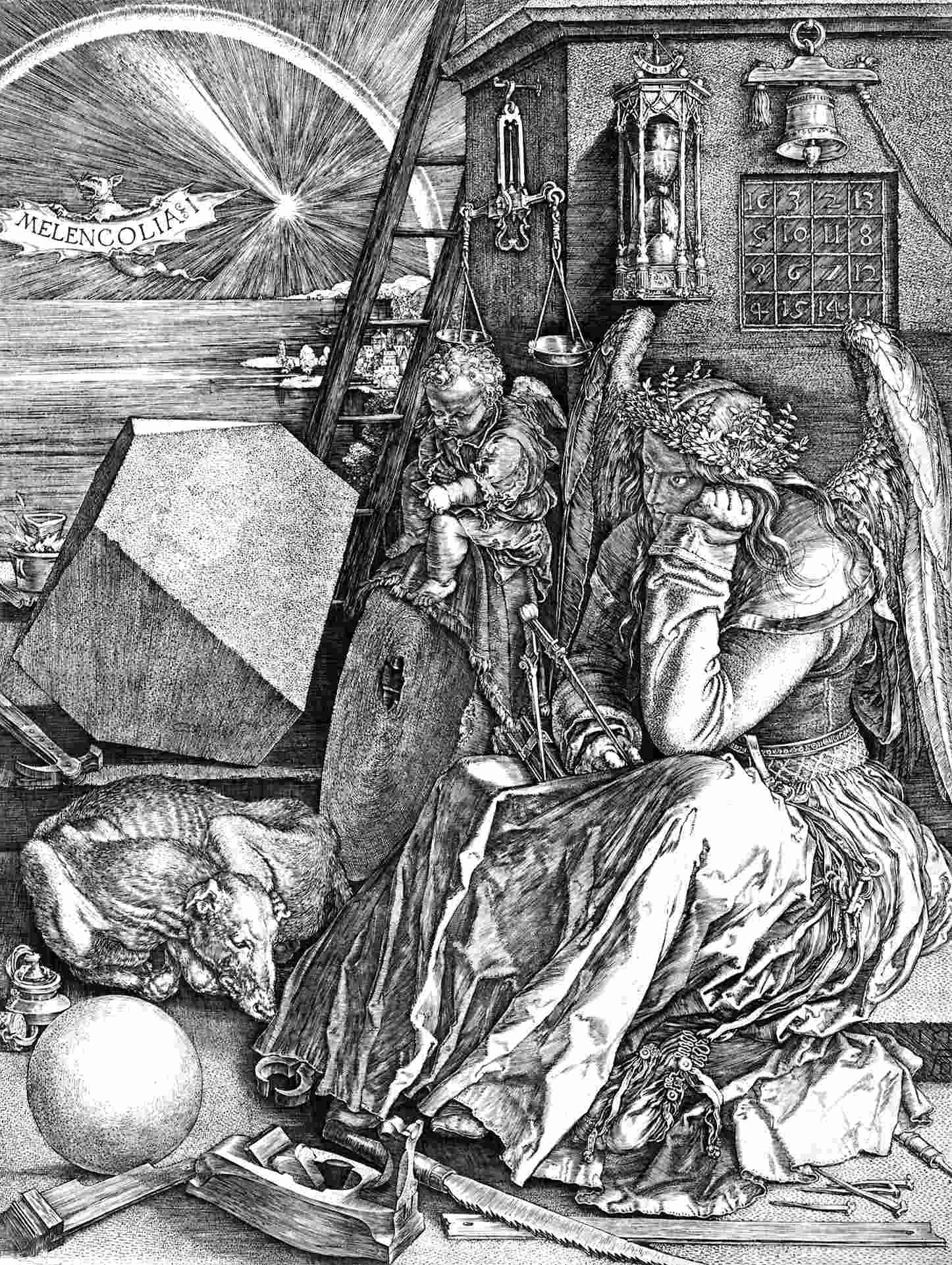 melankólia Lucas Cranach Albrecht Dürer Domenico Fetti Jan Brueghel kutyafuttában szólások és közmondások