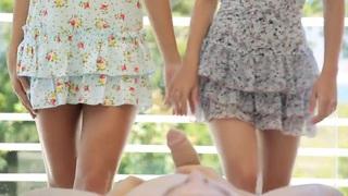 Charlotte & Paloma giving head porn image