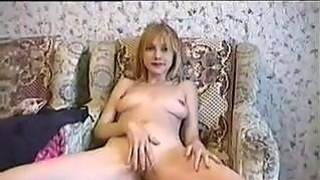 Dirty Blonde Fingers Her Pussy porn image