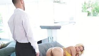 Marsha May rides Seth on top of his thick cock porn image