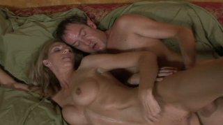 Dirty slut Roxanne Hall is fucked in missionary position porn image