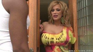 Busty blonde milf Shyla Stylez wants to try big gangsta cock porn image