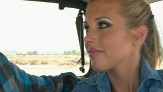 Hitchhiker Samantha Saint wants to have some_fun porn image