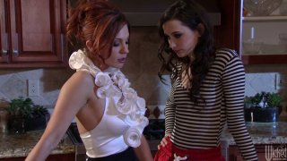 Two horny chicks Kirsten Price & Georgia Jones please the pussies porn image