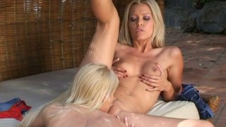 It can't get any hotter than Sophie Moone and Jasmin pleasing each other porn image