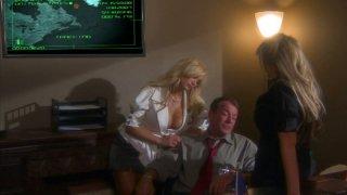 Two amazing blondes shyla stylez and carolyn reese seduce secret agent • Best shyla foxxx porn image
