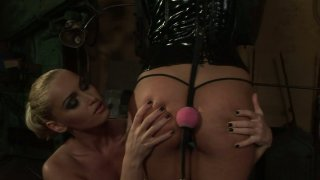 Dirty BDSM lesbo game with Kathia Nobili and Adriana_Russo porn image
