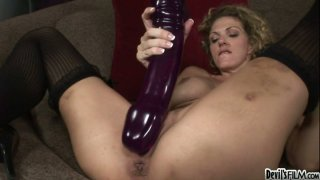Roxanne Hall operates with gigantic dildo porn image