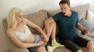 Amazing teen Chloe Cherry fools around with her stepbrother porn image