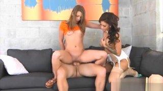 Kirsten Lee And Jamie Valentine Nasty Ffm Threesome Sex porn image