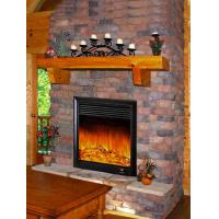 Thermostat Wall Fireplace Heater With Remote , Stainless ...
