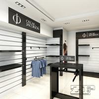 Decorative Wood Wall Mounting Shelves For Clothing Store